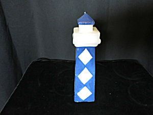 Lighthouse Wax Candle Blue And White