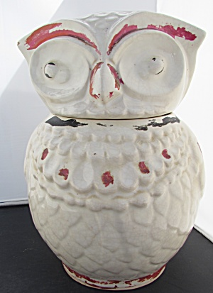 Owl Cookie Jar American Bisque Unmarked