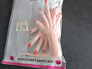 Vintage Witch Hands Doll Crafting Mangelsens