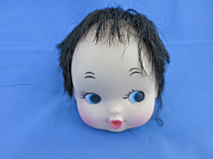 Vintage Black Hair Wig Doll Head Crafting Taiwan