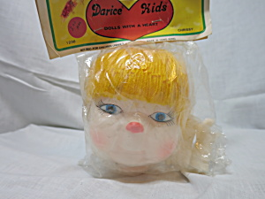 Vintage Darcie Kids Chrissy Doll Head Hands Crafting