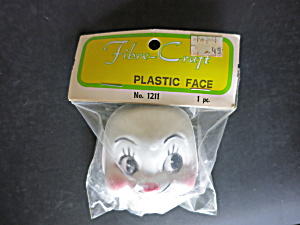 Vintage Rabbit Face Mask Plastic Doll Fibre Craft
