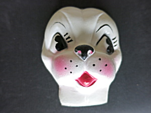 Vintage Plastic Dog Face Mask Head Doll Making