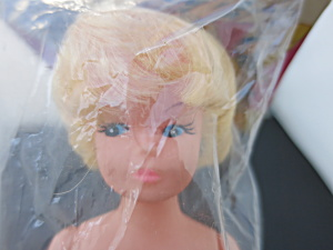 Vintage Dress Up Doll Rooted Blonde Hair Pressflags