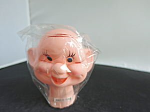 Vintage Bald Man Doll Head Wrinkles And Dimples Korea