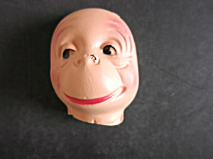 Vintage Monkey Plastic Face Mask Head Doll Crafting