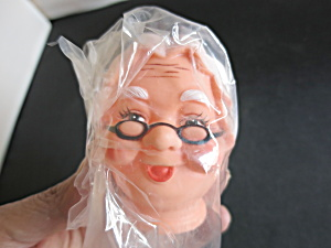 Vintage Granny With Specs Rubber Doll Head Crafting