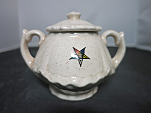 Vintage Eastern Star Sugar Bowl Marked B & O