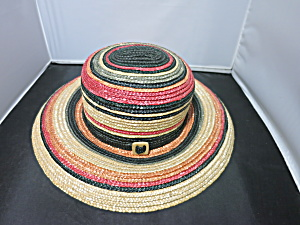Ladies Wide Brim Straw Floppy Hat Beach Sun