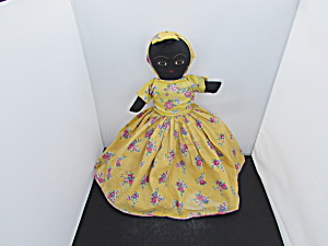 Vintage American Black American Cloth Flip Doll