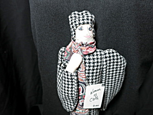 Hand Made Cloth Doll Women Of Cloth Woman With Scarf Vt