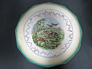 Sterling China Plate Bunny Rabbit Bunnies Rabbits 9 In