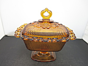 Indiana Glass Old Colony Open Lace Compote Covered Dish