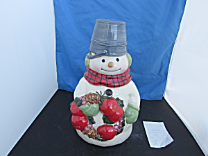 Snowman Cookie Jar By Jan Karon For Hallmark