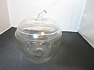 Anchor Hocking Glass Apple Cookie Jar