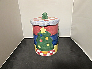 Lotus Christma Cookie Jar Canister Tree Wreath Stocking