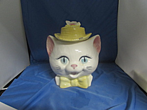 Cat Metlox Poppy Trail Of California Cookie Jar Damage