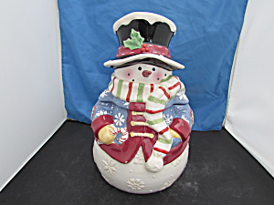 Snowman Cookie Jar By Big Lead International 2004