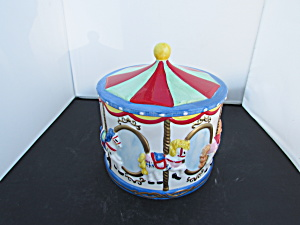 Vintage Carousel Cookie Jar Made In China