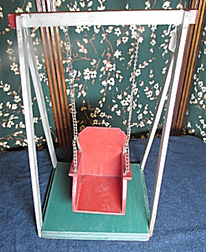 Vintage Wooden Doll Swing Circa 1940s
