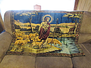 Good Shepherd Jesus Christ With Sheep Tapestry Lebanon