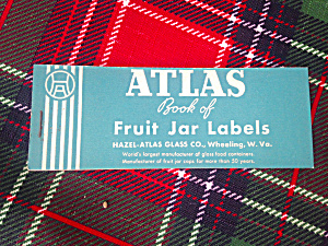 Vintage Hazel Atlas Fruit Jar Label Booklet