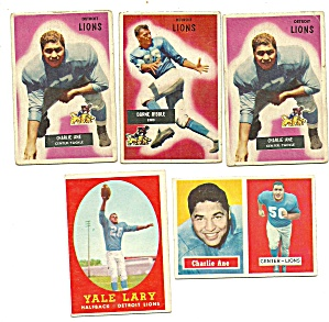 1950's Detroit Lions Football Cards