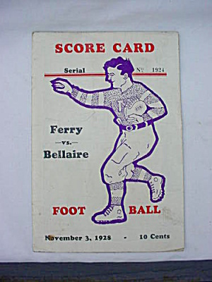 1928 Martins Ferry Bellaire Ohio Football