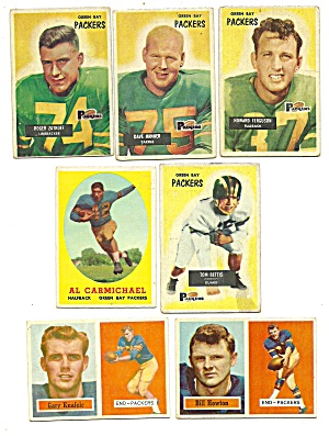 1950's Green Packers Football Cards