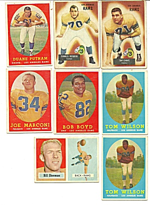1950's Los Angles Rams Football Cards