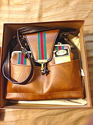 Unused Leather Purse W/box