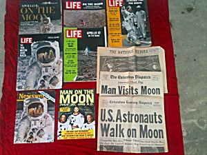 Apollo Man On Moon Nasa Space Magazines Paper