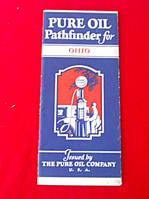 Old Pure Oil Ohio Map