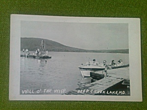 Will O' The Wisp Deep Creek Md Postcard