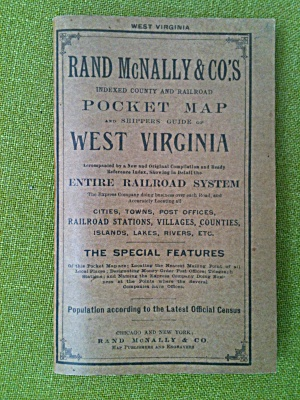 1910 Rand Mcnally West Virginia Pocket Map