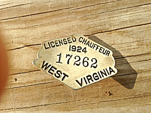 West Virginia Chauffeur Badge 1924