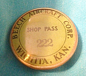 Early, Beech Aircraft Wichita Ks Badge