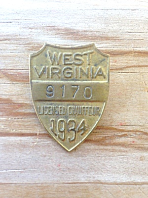 1934 West Virginia Chauffeur Badge