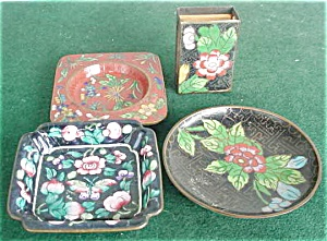 Cloisonne Trays & Match Holder