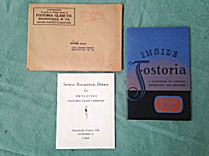 1948 Fostoria Employee Guidebook & Recognitio