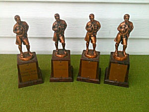 4 Older Boy Scouts Achievement Trophies