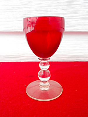 Imperial Candlewick Ruby Red 1 Oz. Cordial