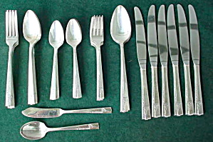 41 Pcs. Oneida Caprice Silverware Set