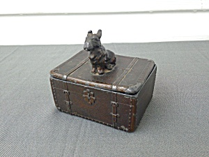 Old Pot Metal/cast Scotty Trinket Box