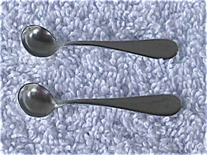 Pr. Of Sterling Silver Salt Spoons