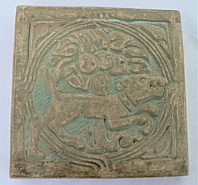 Batchelder Tile - Dog And Tree