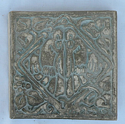 Batchelder Tile - Two Birds In A Diamond #2