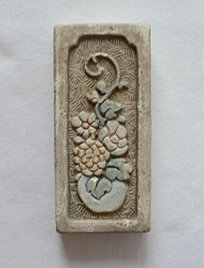 Claycraft Vase And Flowers Tile #2
