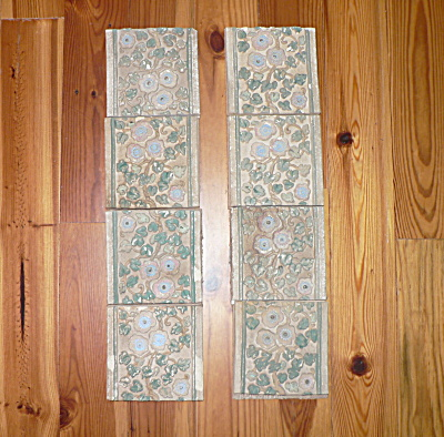 Claycraft Tiles Set Of 8 Vintage Calif A & C