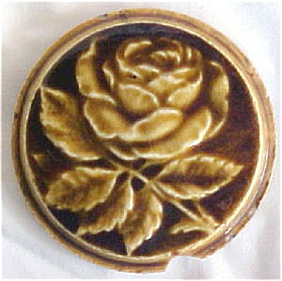 Antique American Stove Tile With Rose